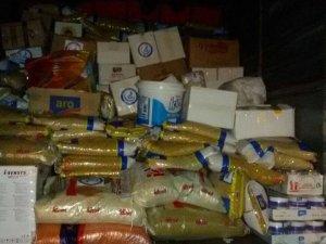 Fırat Kalkanıyla terörden temizlenen bölgelere gıda yardımı