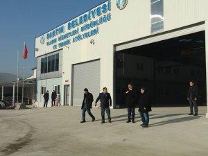 Belediye garajı hizmete açılacak