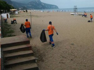 Plaj temizliği yapıldı