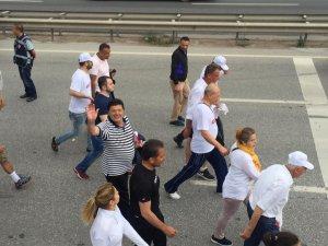 Adalet Yürüyüşüne Milletvekili Yalçınkaya da katıldı