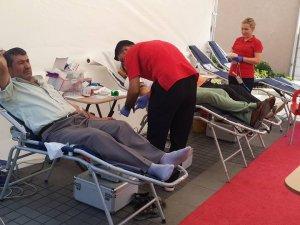 Kızılay, Kozcağız'da kan bağışı kampanyası düzenledi
