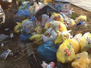 Konteynırdan taşan çöp görüntüsü tepkilere neden oldu