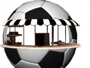 Kent merkezine futbol topu şeklinde büfe kurulacak