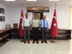 Dernek Başkanı Altunok'tan yeni Alay Komutanı Kapancı'ya ziyaret