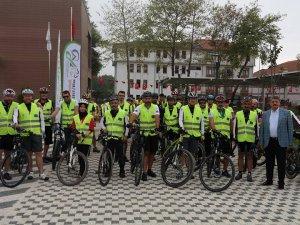 35 kilometrelik güzergahta bisiklet turu düzenlendi