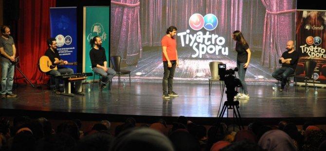 """Bartın'da """"Tiyatro Sporu"""" Sahnelendi"""