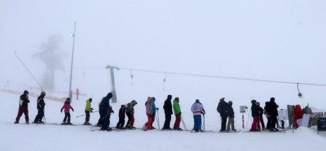 Kartalkaya'da Kar Kalınlığı 86 Santimetreye Ulaştı