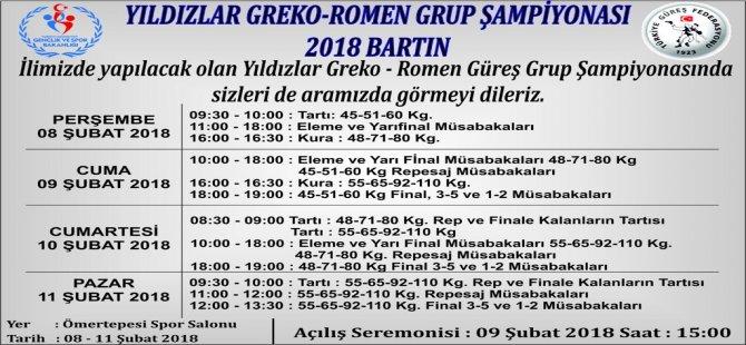 Yıldızlar Greko-Romen Grup Şampiyonası ilimizde düzenlenecek