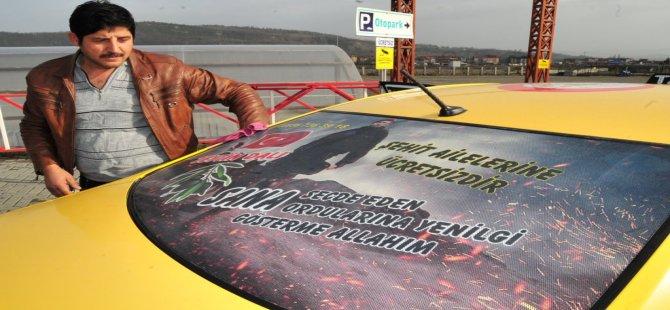 Zonguldaklı Taksiciden Mehmetçiğe Destek