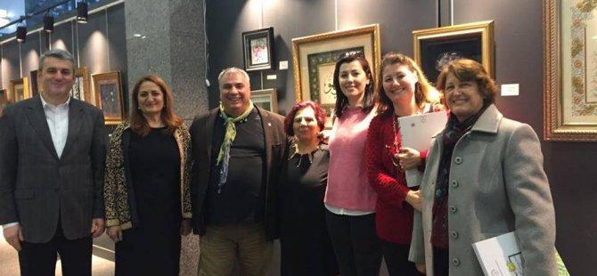 Meclis Üyesi Camcı, Kömürde Açan Çiçekler Sergisini gezdi