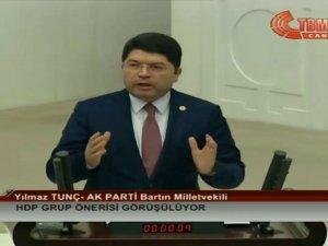 Milletvekili Tunç, TBMM'de konuştu