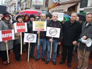 Başkanlık sistemine karşı 'Ayağa Kalkıyoruz' eylemi