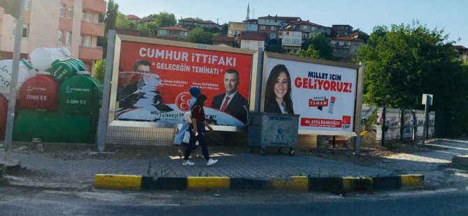 MHP ve Saadet afişlerine çirkin saldırı