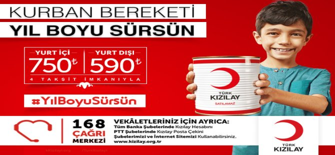 Kızılay'dan Vekâletle Kurban Kesim Kampanyası!