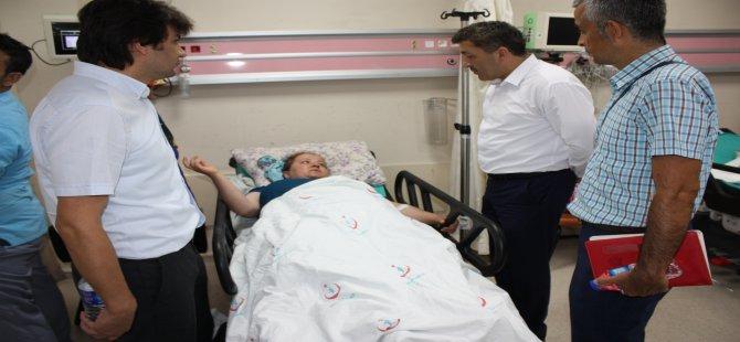 İl Başkanı Kalaycı, Devlet Hastanesi'nde yapılan iyileştirme çalışmalarını inceledi