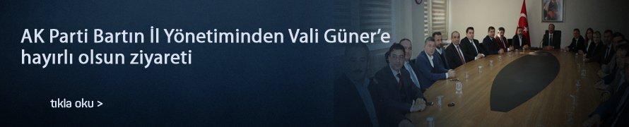 AK Parti Bartın İl Yönetiminden Vali Güner'e hayırlı olsun ziyareti