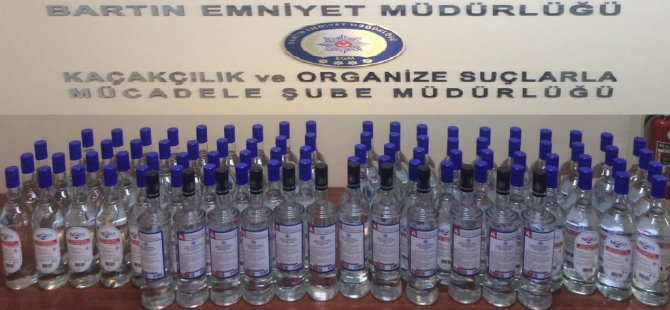 Bartın Emniyetinden Alkol Operasyonu