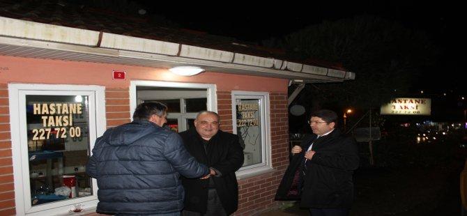 Tunç ve Aldatmaz'dan taksi durağı ziyareti