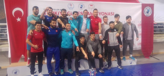 Türkiye Güreş Şampiyonası'nda Bartın Üniversitesi'ne 18 madalya