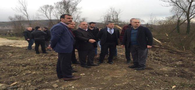 AK Parti heyeti TOKİ Köprüsü'nün yapılacağı alanı inceledi