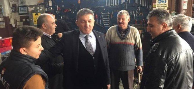 AK Parti heyeti sanayi esnafını gezdi