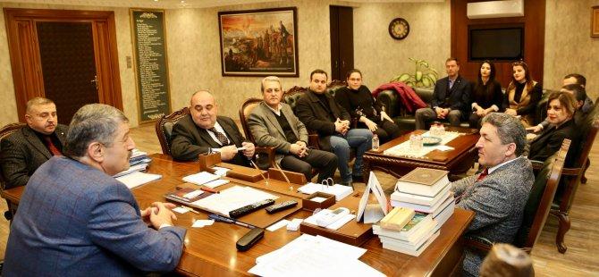 AK Parti heyetinden Başkan Akın'a ziyaret