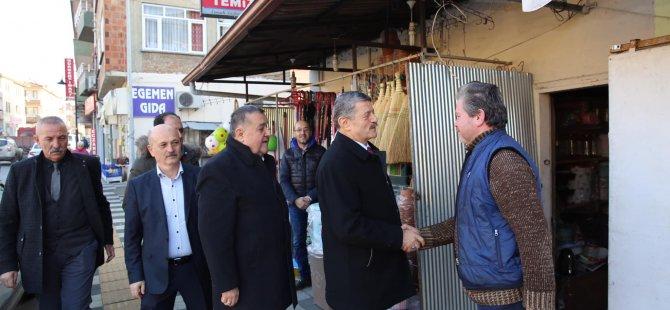 Başkan Akın, Orduyeri esnafını ziyaret etti