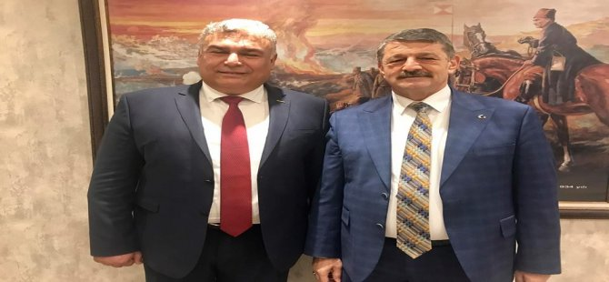 Başkan Adayı Arslan'dan Başkan Akın'a Ziyaret