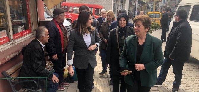 CHP Kumluca ve Abdipaşa'ya çıkartma yaptı