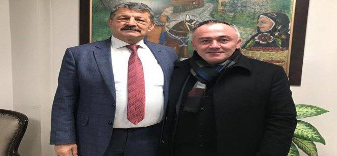 Başkan Adayı Aksoy, Başkan Akın'dan sözü aldı