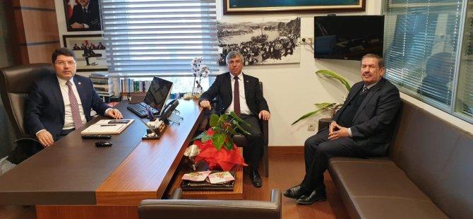 Milletvekili Tunç'a Belediye Başkanlarından TBMM'de ziyaret