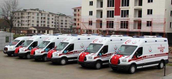 Bartın'a 7 yeni ambulans daha tahsis edildi