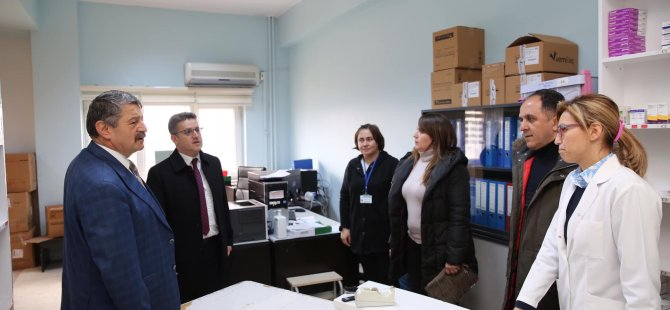 Başkan Akın'dan hastane ziyareti