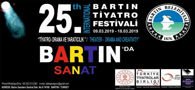 25. Uluslararası Bartın Tiyatro Festivali 8 Mart'ta başlıyor