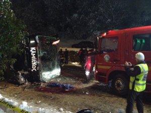Yolcu otobüsü devrildi: 2 ölü, 5 yaralı