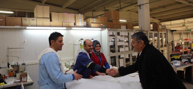 Akın'dan fabrika ziyaretleri