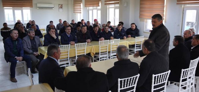 Başkan Akın, İl Özel İdaresi şantiyesini ziyaret etti