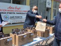 Belediyeden beldelere maske desteği