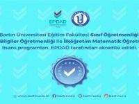 Bartın Üniversitesi'nde 3 program daha akredite edildi