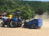 Sahil köylerindeki kumsallar temizlendi