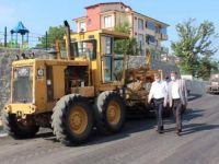 Başkan Akın, asfalt çalışmalarını inceledi
