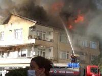 Yangında 10 mutfak tüpü patlamadan çıkartıldı