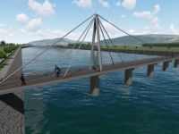 Sarıkaş Yaya Köprüsü'ne ilk harç döküldü