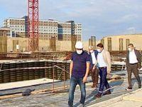 İnşaatı Durdu Denilen Yeni Hastanede Çalışmalar Devam Ediyor
