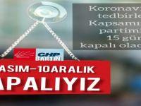 CHP parti binası tedbir amaçlı kapatıldı