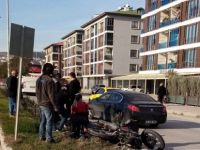 Ticari taksi, motosikletliye çarptı