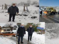2 bin 250 km'lik yol ağında gece gündüz çalıştılar