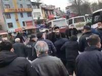 Polis biber gazıyla müdahale etti