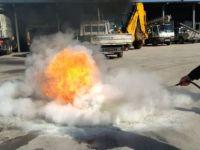 Yangın Söndürme Tatbikatı Gerçeği Aratmadı