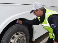 Kış lastiği kullanmayan 89 araca ceza kesildi